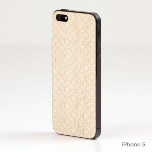 Lazerwood 25300 Holz Cover für Apple iPhone 5/5S inkl. Displayschutzfolie Circular-Maple