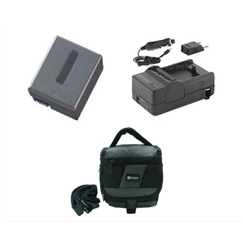 Sony DCR-IP1 Camcorder Accessory Kit includes: SDC-27 Case, SDM-102 Charger, SDNPFF70 Battery ()