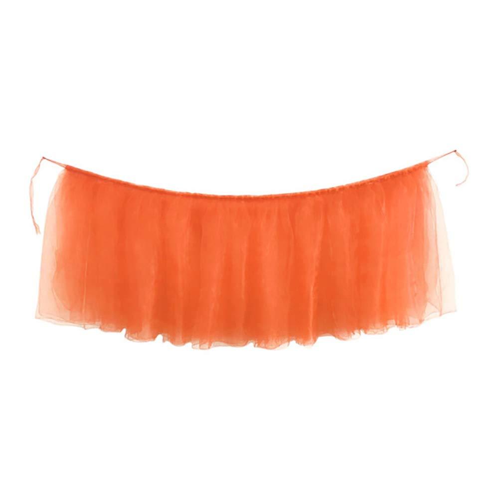 Falda de Mesa Redonda o Rectangular de 3 Capas con tut/ú de Malla para Baby Show decoraci/ón de Boda Fiesta de cumplea/ños Icegrape
