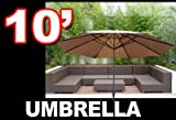 Cheap New 10′ Patio Outdoor Beach Market Sun Aluminum Umbrella w/ Crank Shade Tan