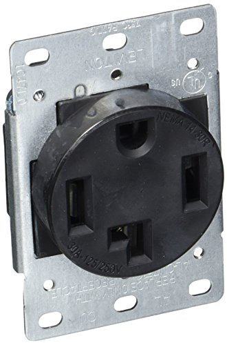 Mount 250v Flush (Leviton 278-S00 4-Wire, 30-Amp, 250V Flush Mount Dryer Receptacle)