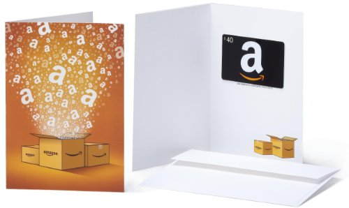 Amazon.com $40 Gift Card in a Greeting Card (Amazon Surprise Box Design)