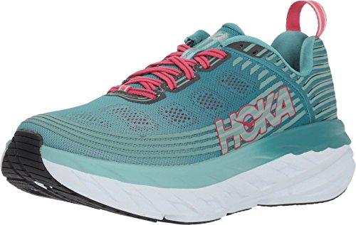 HOKA ONE ONE Womens Bondi 6 Marlin/Blue Ribbon Running Shoe - 6.5