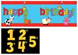 Creative Converting Barnyard Bash Giant Party Banner with Stickers, Health Care Stuffs