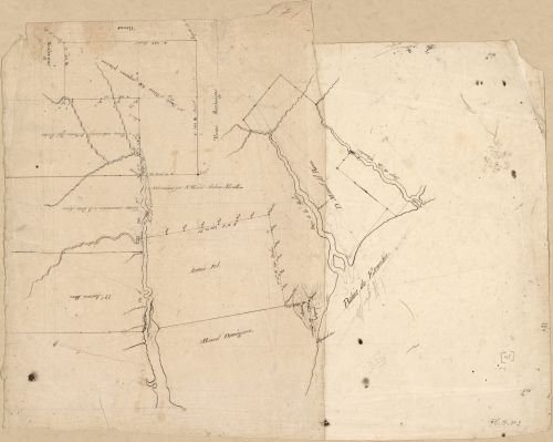 1810 Map of landowners between Escambia Bay and Governor or Mulata River. - Size: 20x24 - Ready to F