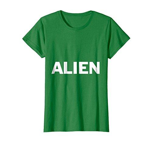 Womens Alien Lazy Halloween Costume Funny T Shirt