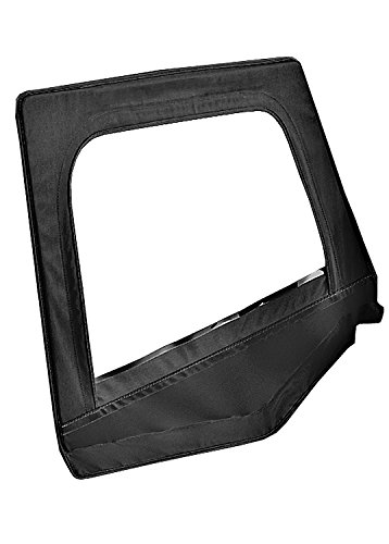 Bestop 53120-15 Black Denim Fabric Replacement Upper Door Skin Set for 88-95 Wrangler YJ (Replacement Supertop Skin)