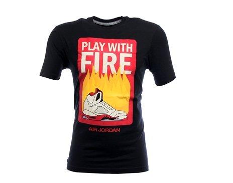 Nike Air Jordan Play With Fire Mens T-Shirt 606292-010 (XX-Large)