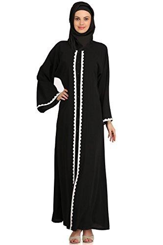 MyBatua muslim dubai Frauen schwarze casual formale Abnutzung abaya ...