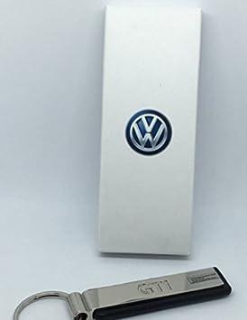 Llavero con texto en el diseño de Volkswagen GTI cromo negro ...