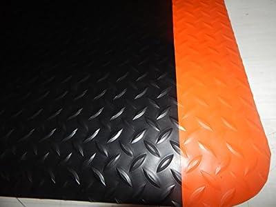 "4' x 8' Approx..3/4"" Thick Diamond Surface Anti Fatigue Matting Industrial Mats."
