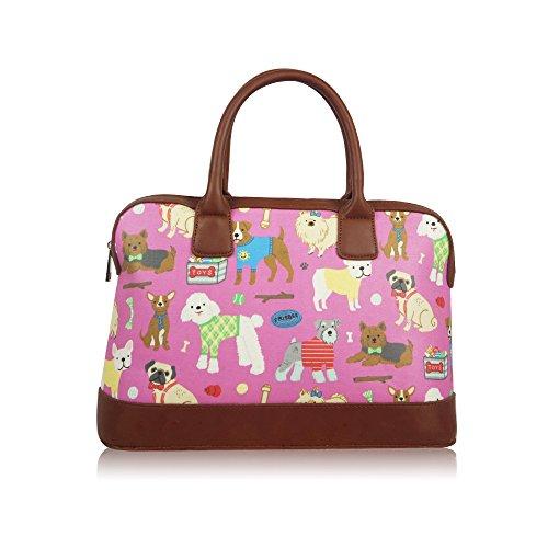 Womens Ladies hule perros bolsa de fin de semana de viaje bolsa de hombro bolso de mano para mujer morado