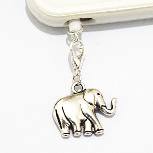 Charm Silver Elephant Cell Phone Charm, Elephant Dust Plug, Unique Cell Phone Charm, Headphone Jack Charm ,Silver Phone Charm Dust Plug,charm Dust Plug for Iphone 3,iphone4,iphone 4s ,Iphone 5,iphone 5s,iphone 6, Samsung S3,samsung S4, Samsung S5 ,Note 2,note 3, Ipad 2,ipad 3,ipad 4,ipad 5 Nokia,htc One M7, Ipad Mini Dust Plug (Headphone Jack Charms Iphone6 compare prices)