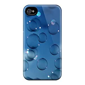 For Iphone 4/4s Tpu Phone Case Cover(bubbles)
