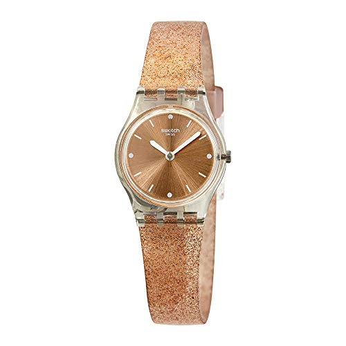 Swatch Originals Pinkindescent Rose Gold Dial Silicone Strap Ladies Watch LK354D