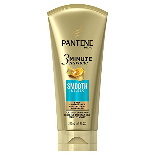 Pantene Smooth & Sleek 3 Minute Miracle Daily Conditioner, 6