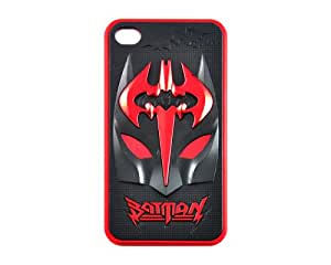 EOZY Iphone4/4s Protective Case Copper Batman Skin Cover (3Black and Red)