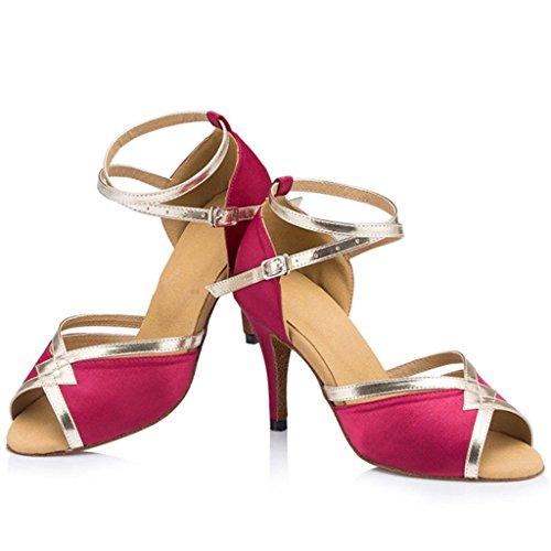 5cm Tango Monie 8 Salsa Fuchsia Dance Standard Ballroom Women's Shoes Latin wqqgzOX
