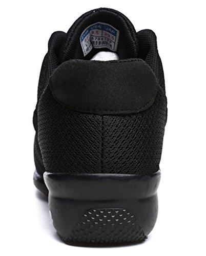 Sneaker Women's Jazz Rockit Athletic Breathable Fitness Dance Modern Black DADAWEN td8qX8