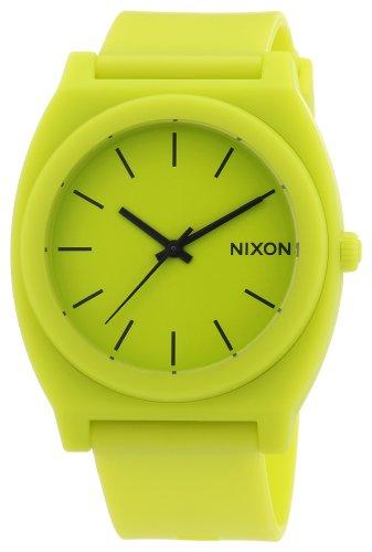 Nixon A119-1262-00 Mens Time Teller P Neon Yellow Watch