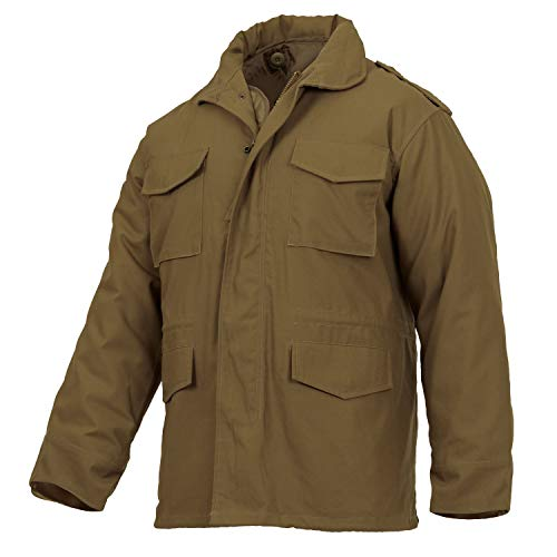 (Rothco M-65 Field Jacket, Coyote Brown, L)