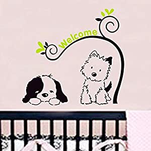 DIY Removable Wall Stickers For children Room Home Decor - puppy