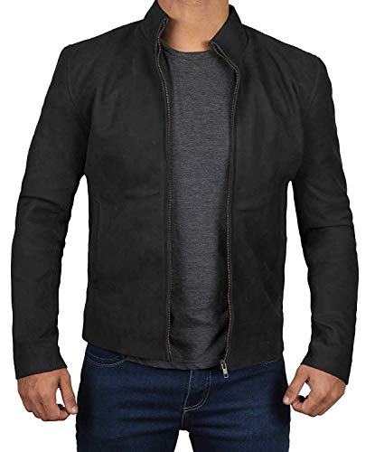 Decrum Black Suede Leather Jacket - Swedish B2 Bomber Jacket | [1100343] James, M