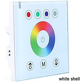 RGB DC12V 24V Wall mounted Glass Touch Panel Dimmer Switch Full Color RGB  Controller For LED Strip LightingRGBZONE TM  Original Acrylic Touch Panel Controller Wall Mounted  . Armacost 21 Color Rgb Led Lighting Controller. Home Design Ideas