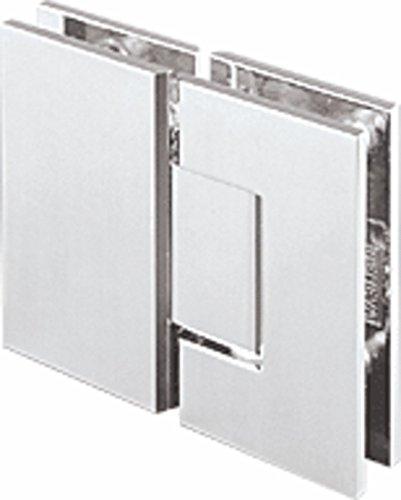 Polished Chrome Junior Geneva 180 Series 180 Degree Glass-to-Glass Hinge