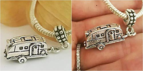 EWT RV trailer Car camp camping camper travel gift Charm Pendant - For bracelets or necklaces by EastWest Treasures