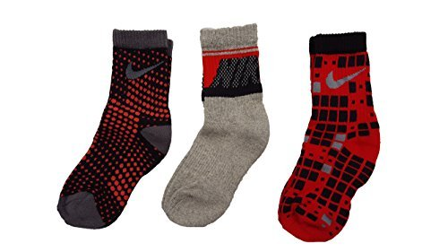 Nike Girls Graphic 3-Pack Crew Socks Size 13C-3Y//6-7 Sock Size
