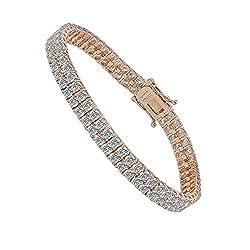 2 Rows Round Tennis Bracelet Women's Bracelet