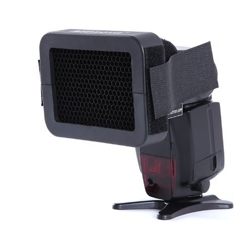 """Movo Photo SG16 1/6"""" Honeycomb Quick Grid Flash Attachment Accessory for Lighting Effects"""