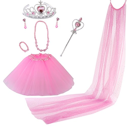kilofly Princess Party Favor Jewelry Costume Set Girls Birth