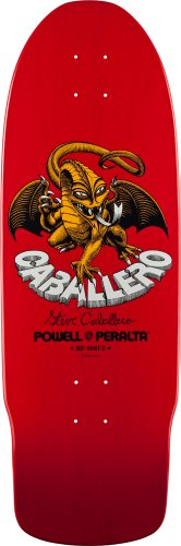 "Powell-Peralta Steve Caballero ""Dragon II"" Skateboard Deck Red"