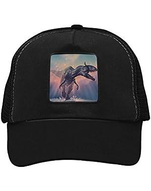 Unisex Sparkling Dinosaur Adjustable Classic Hiphop Hat Baseball Cap Snapback Dad Hat