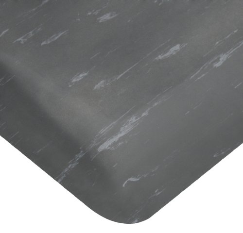 Wearwell PVC 419 UltraSoft Tile-Top Anti-Microbial Mat, Safety Beveled Edges, for Dry Areas, 2' Width x 3' Length x 7/8