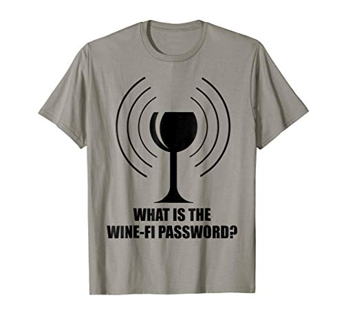 What is the Wine - Fi Password Funny Wine Glass WiFi Waves T-Shirt