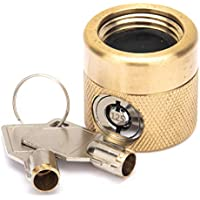 Flow Security Systems | The FaucetLock | Heavy Duty Brass Construction | Prevents Water Theft & Secures Outdoor Bibbs | Promotes Water Conservation | Keyed Differently | FSS 50 | 1 Pack