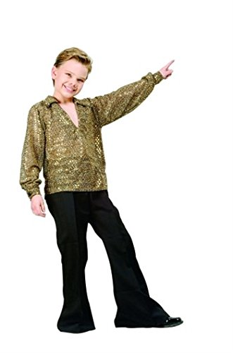 Boys Disco Fever Gold Kids Costume size Medium 8-10 by RG Costumes ()