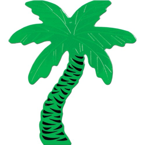 Foil Palm Tree Silhouette - Foil Palm Tree Silhouette Party Accessory (1 count)