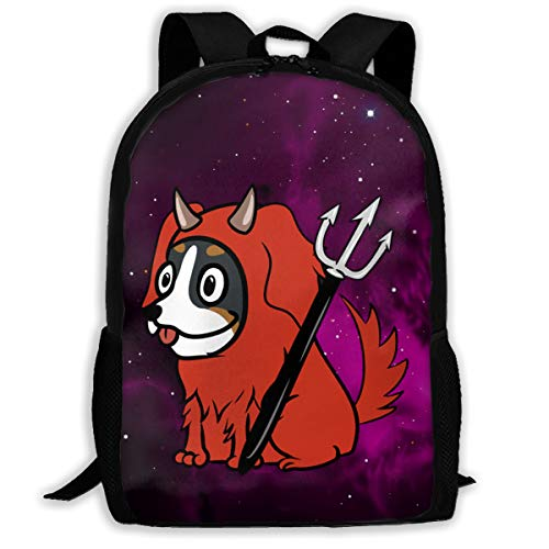 se Mountain Dog Scary Devil Backpack Daypack BookBags Shoulder Schoolbags Travel Bags ()