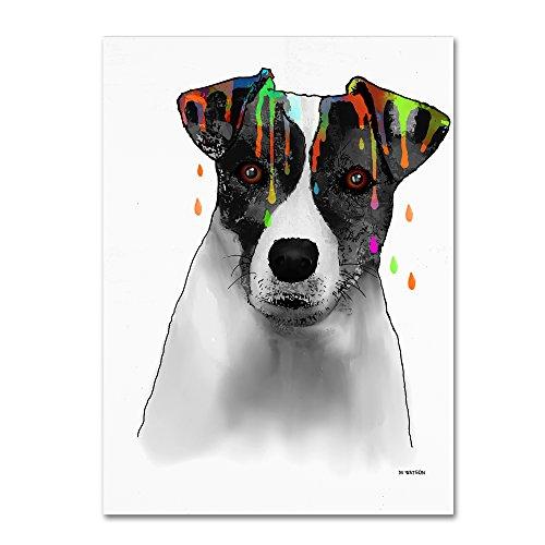 Terriers Russel Jack Rock - Jack Russell Terrier Wall Decor by Marlene Watson, 35 by 47