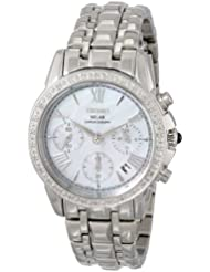 Seiko Womens SSC893 Stainless Steel Diamond-Accented Watch