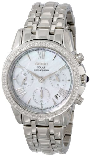 - Seiko Women's SSC893 Stainless Steel Diamond-Accented Watch