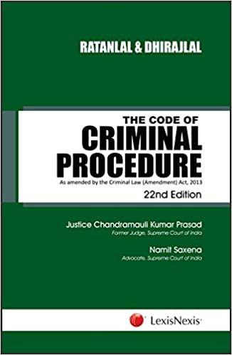 Buy Ratanlal and Dhirajlal's the Code of Criminal Procedure - As
