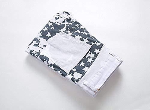 Vestibilità Da Bobo Colour Vintage Bandiera Uomo Denim 88 Especial Estilo Strappati Con Usa Flag Griffato Look Jeans Slim wZzqtnxTrZ