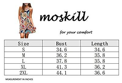 Summer Beach Dresses for Women Tshirt Sundresses Boho Casual Sleeveless Floral Shift Pockets Swing Loose Damask