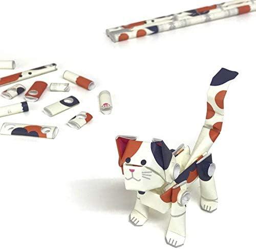 パイプロイド(PIPEROID) アニマルズ 猫 シリーズ ミケ - 小学生 から 大人まで 楽しめる 紙工作 クラフトキット - 折り紙 好きの 男の子や 女の子にも [並行輸入品]