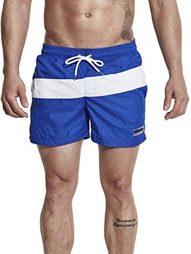 Neleus Men's Swimming Trunks Beach Shorts with Pockets,710,Blue,S,Tag - Triathlon Suits Bathing